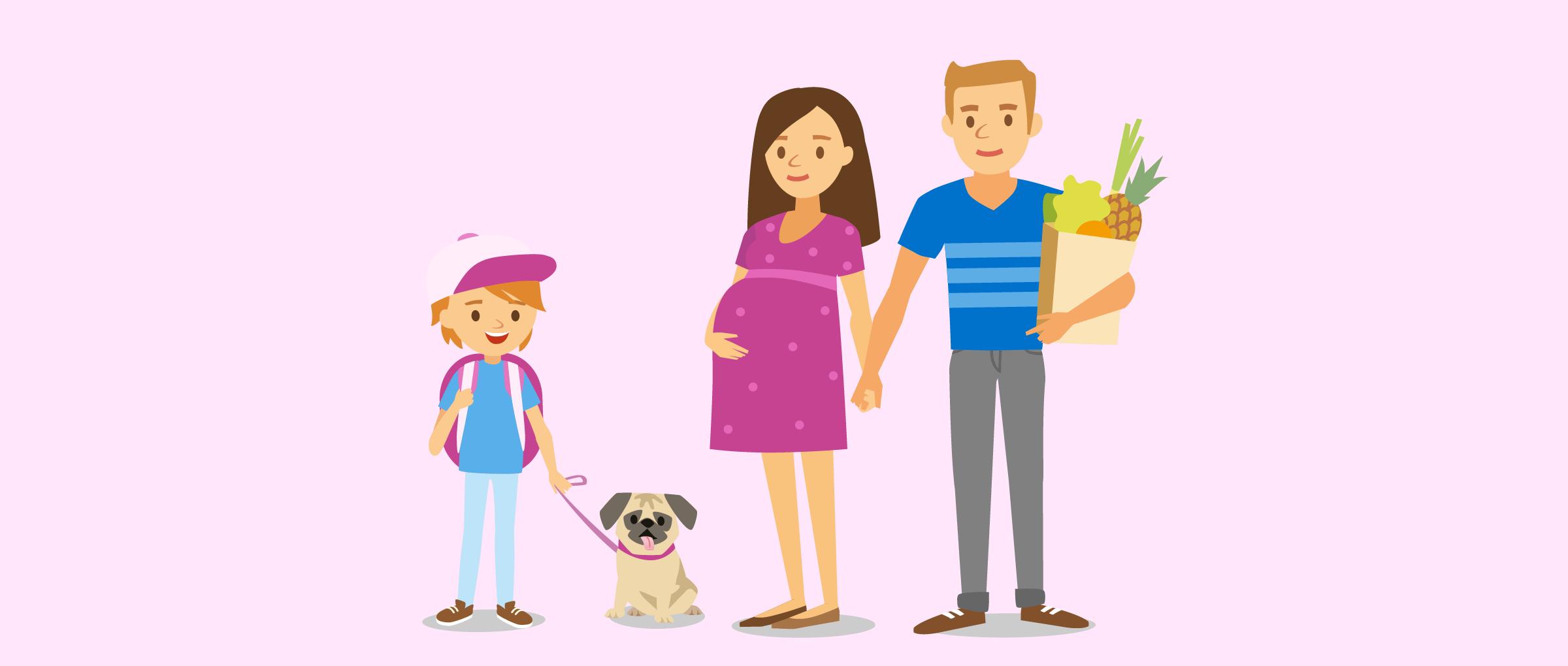 gesunde und junge Leihmutter mit eigener Familie