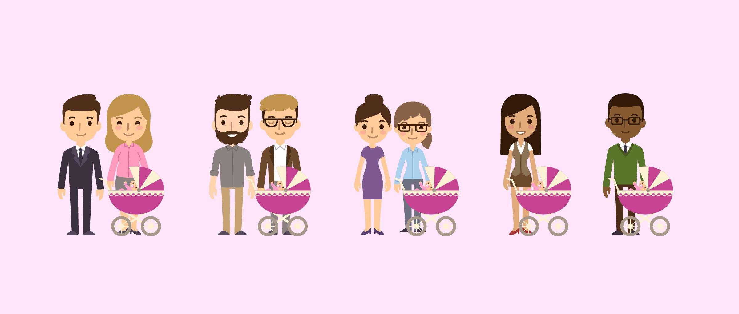 Eltern werden mit einer Leihmutterschaft