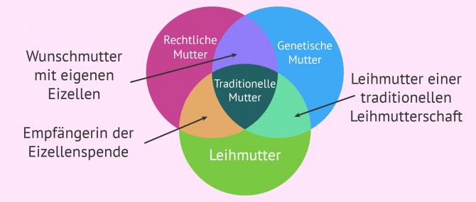 Imagen: Wie das Mutterschaftskonzept aufgeteilt wird