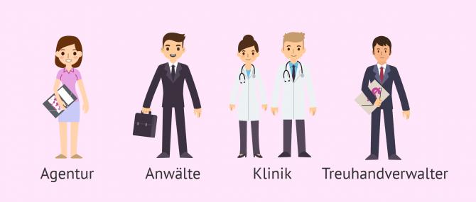Fachleute in der Leihmutterschaft: Agenturen, Kliniken und Rechtsanwälte