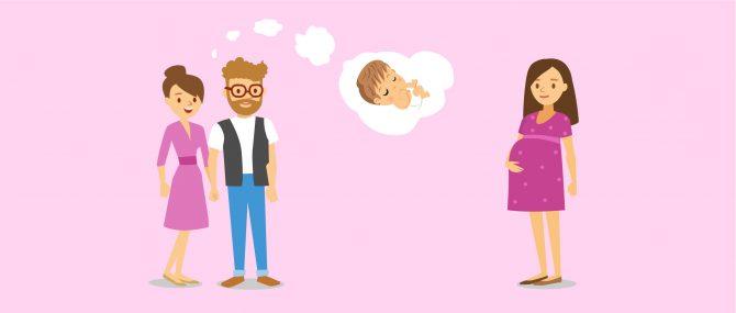 Leihmutterschaft für heterosexuelle Paare
