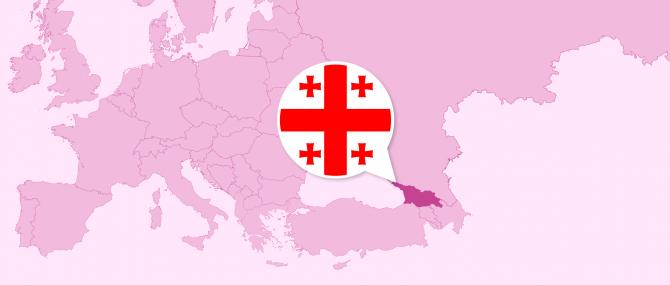 Imagen: Geografische Lage von Georgien