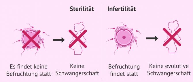 Imagen: Unterschiede zwischen Sterilität und Infertilität