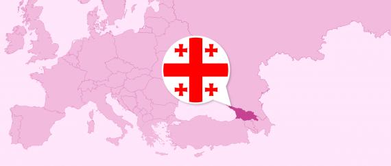Location of Georgia in Europe