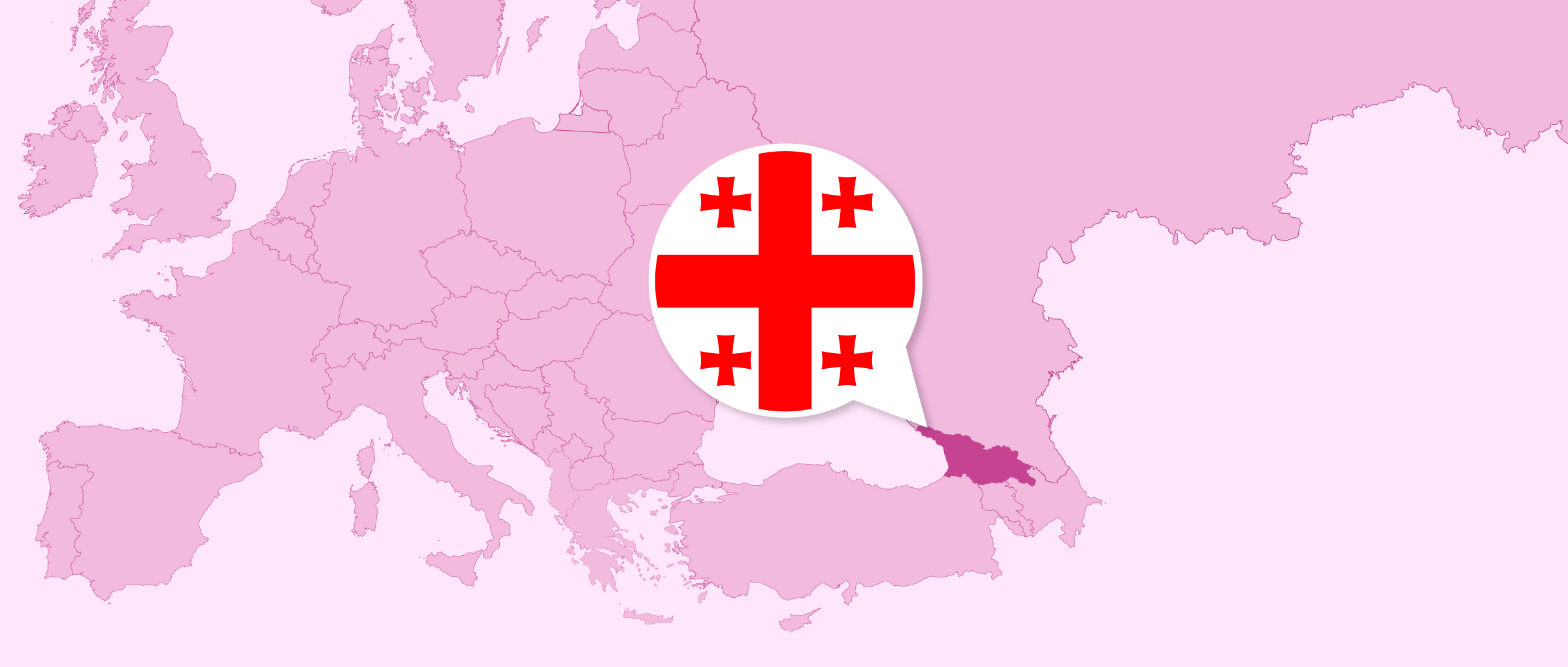 Location of Georgia in Europe