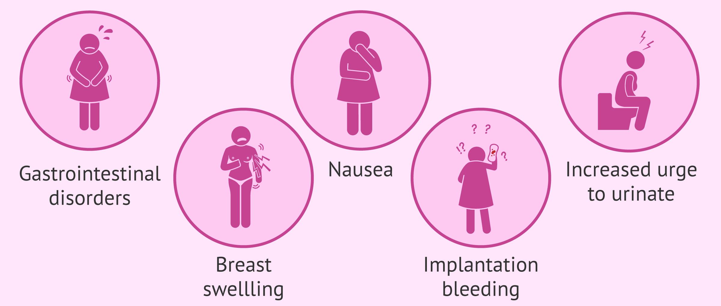 Main symptoms of embryo implantation