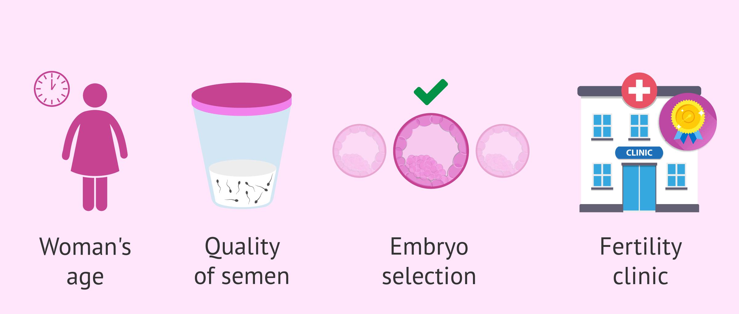 What factors predict the success of IVF?