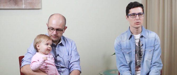 Álvaro y Jorge, padres por gestación subrogada