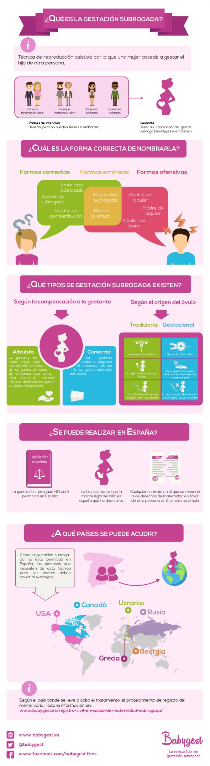 Infografía: definición y proceso de gestación subrogada