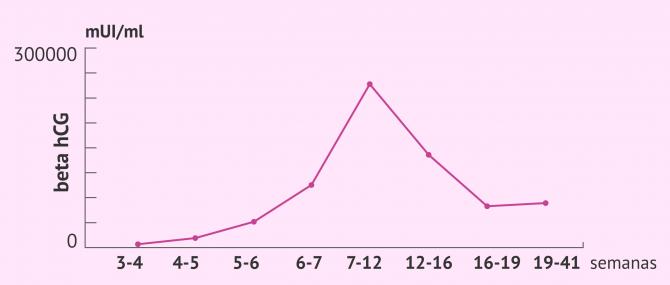 Imagen: Valores de la beta hCG según el momento