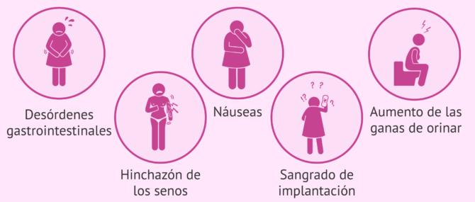 Principales síntomas de implantación