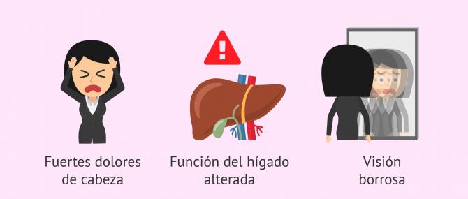 Imagen: Síntomas de la hipertensión arterial asociada al embarazo