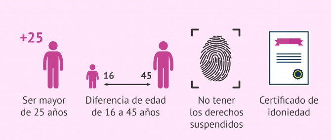 Imagen: Requisitos para adoptar en España
