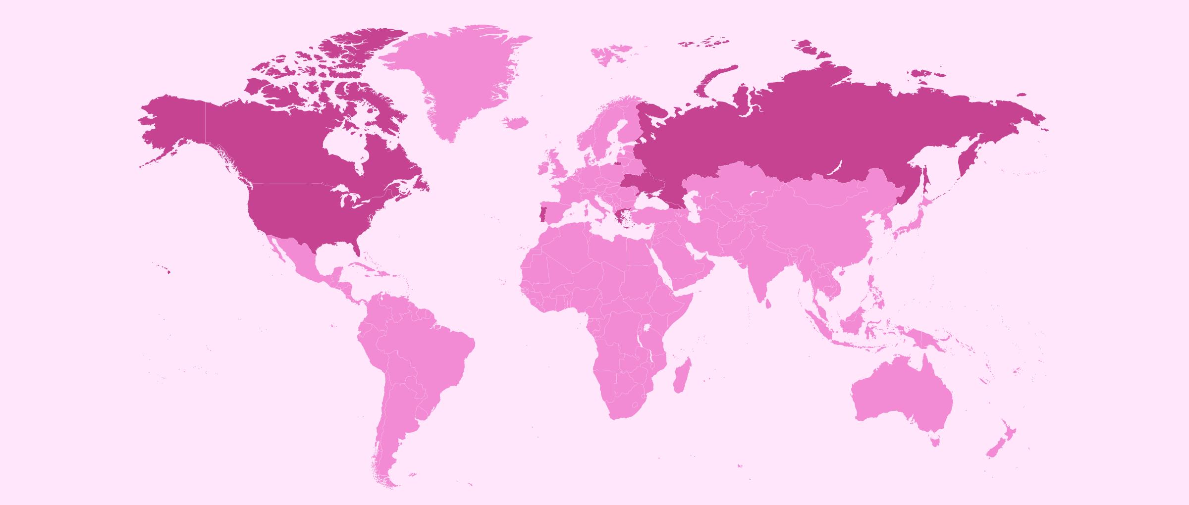 La GPA par pays