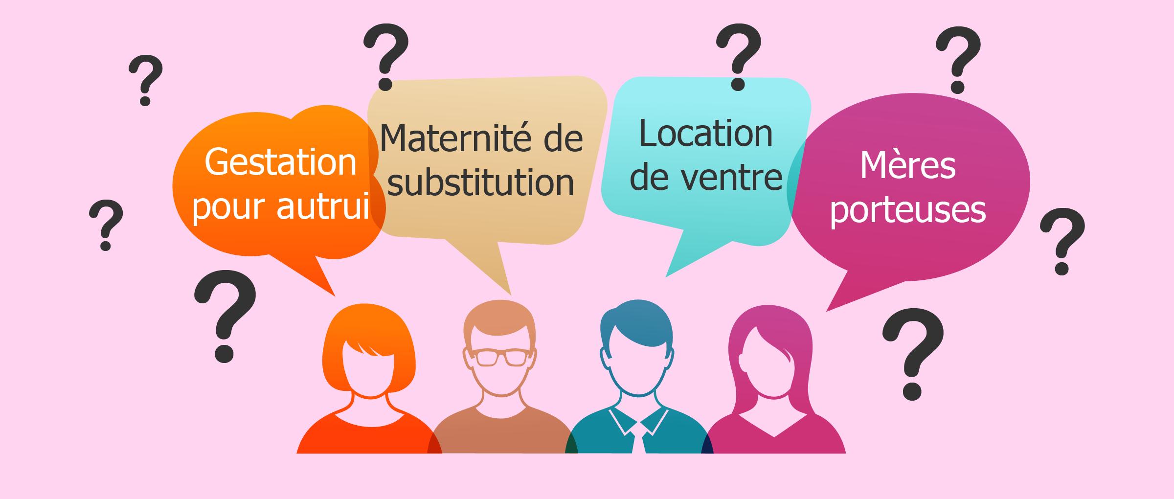 «Gestation pour autrui» et «mères porteuses»: S'agit-il de synonymes?