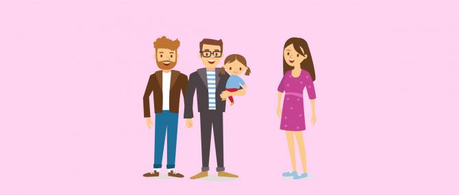 Relation entre parents gays et mère porteuse