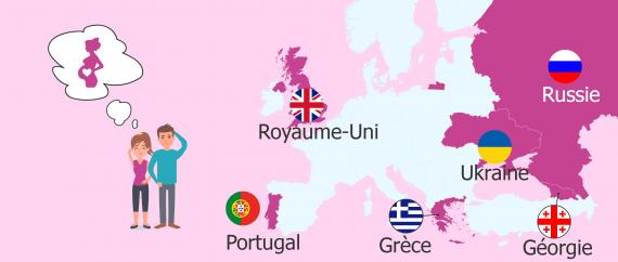 Pays européens qui permettent la gestation pour autrui