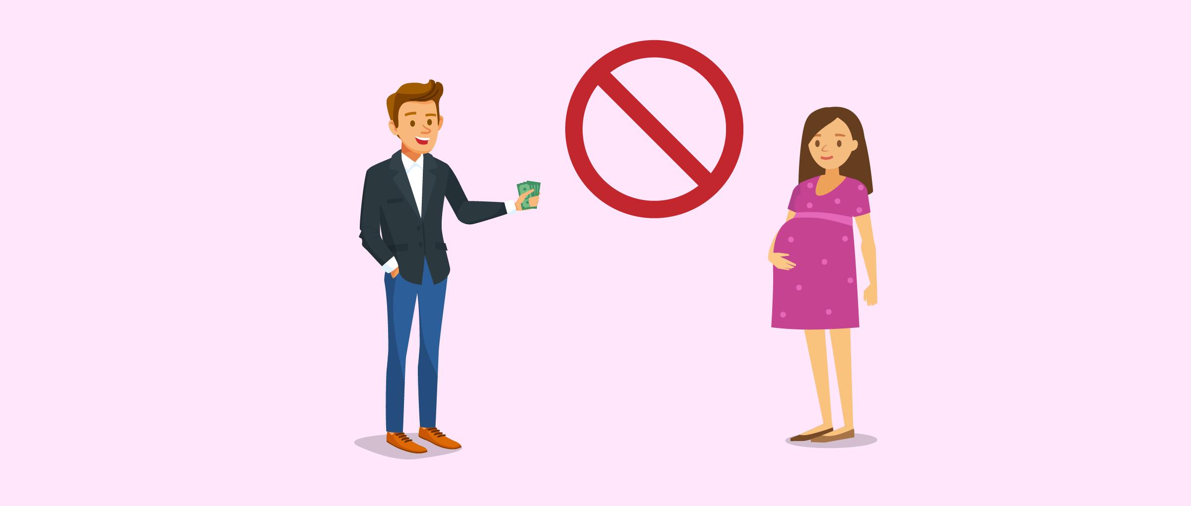 Il est interdit de payer une mère porteuse